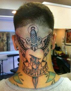 Tattoos on neck Face Tattoos For Men, Back Of Neck Tattoo Men, Spine Tattoo For Men, Wing Tattoo Men, Best Neck Tattoos, Side Hand Tattoos, Back Of Shoulder Tattoo, Small Forearm Tattoos, Shoulder Tattoos For Women