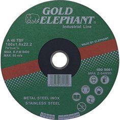 Kotúče na rezanie, pílenie a brúsenie. Brúsny, rezný, pílový a aj diamantový kotúč. Pílové a brúsne kotúče na drevo, betón, kov a iné materiály. Nájdete tu aj pílové kotúče na cirkulár rôznych veľkostí. Elephant, Stainless Steel, Metal, Gold, Products, Elephants
