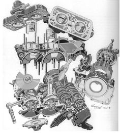 Cfa Ad D D D C Cabe Laurence on Rotary Engine Exploded View