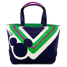 Disney Tote Bag - Blue Canvas Icon Mickey Mouse