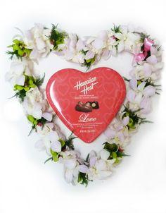 valentine heart leis