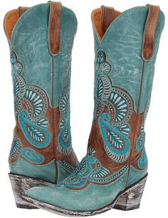 Old Gringo - Bell Cowboy Boots. The perfect shade of turquoise. #ad
