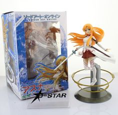 """(31.99$)  Watch now - http://aihj1.worlditems.win/all/product.php?id=1036775365 - """"Free Shipping 9"""""""" Sword Art Online S.A.O Anime Asuna Aincrad 2013 Ver. 1/8 Scale Boxed PVC Action Figure Collection Model Toy"""""""