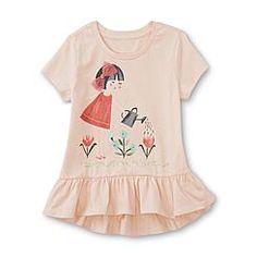 fceca014426b5 WonderKids Toddler Girl's Graphic Pajama T-Shirt Top & Pants - Zoo ...