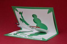 Pop Up Card Templates   Magical Snowman Pop Up Card   Creative Pop Up Cards
