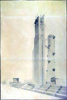 ivan leonidov - narkomtiazhprom proposal (1934)