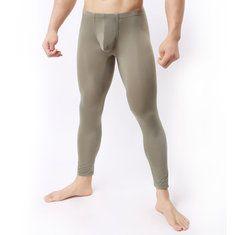 11138acedc Hot-sale Long Johns Fall Modal Super Thin Elastic Legging Underwear Long  Johns Sleepwear Bottoms