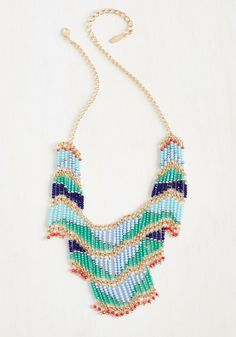 Bead That as It May Necklace. You say this statement necklace is so unique, you almost want to keep it a hidden treasure. #multi #modcloth