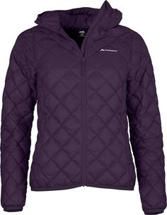 The Uber Light Hooded Down Jacket Womens is as it sounds – uber light, and this version has extra lightweight warmth with the addition of a hood. Filled with cosy high quality 650 loft duck down in a light nylon taffeta shell, the hooded Uber makes a great sweatshirt alternative, or an extra layer to keep you warm without the bulk. It has added style, with distinctive diamond quilt lines on the outer fabric, and features two zippered pockets and bound hems and armholes to keep t...