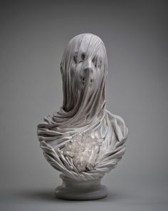 Italian contemporary artist Livio Scarpella series 'Ghost Underground'  (Bless Soul / Soul Damned) : Inspired by the works of Rococo sculptor Antonio Corradini's (1668-1752) veiled ladies.