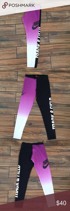 Nike workout leggings In perfect condition size small 57%Cotton 32% Polyester 11%Spandex .. perfect for a workout,hiking... Nike Pants Leggings