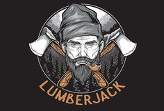 LUMBERJACK,, based on vector design, the design has 5 colors, but you can reduce the color according to your wishes.This artwork are in AI EPS  formats and PNG files, ready for print.Separate color based on layer, it can be used for digital printing and screen printing.thanks and enjoy !!!font not included