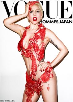 Who can forget that meat dresses Lady Gaga wore on the red carpet & the cover of Vogue Hommes Japan in 2010 – also designed by Sung Yeon Ju!