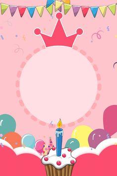 핑크 만화 생일 파티 배경 일러스트 레이션 생일 핑크색 만화 귀여운 연회 멧새 풍선 케이크 배경 이미지 Happy Birthday Posters, Happy Birthday Frame, Happy Birthday Wallpaper, Happy Birthday Wishes Cards, Birthday Frames, Happy Birthday Balloons, Birthday Cards, Birthday Photo Frame, Birthday Quotes