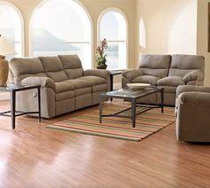 Living Room Sofa: Sanders Reclining Sofa by Klaussner at Kensington Furniture.