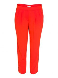 T.BABATON COHEN PANT in red satin-backed silk