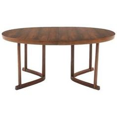 Danish Modern Rosewood Dining Table with Leaf, Excellent Condition