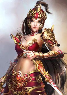 Asian fantasy art women warriors remarkable