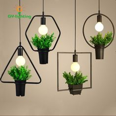 39.20$  Watch now - http://ain5c.worlditems.win/all/product.php?id=32799349886 - 2017 Creative Iron Retro Plant Pendant Light  American Style Restaurant Light Art Creative Living Room Simple Nordic Lights