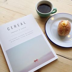 What Saturdays are made for at S&G @cerealmag @steampunkcoffee @twelvetriangles #coffee #doughnuts #cerealmagazine #reading #journals #travel #style #stockbridge #Edinburgh