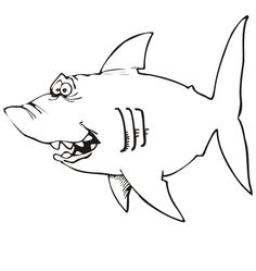 Shark coloring pages...Luke will LOVE this!