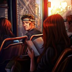 Good likeness someone did for Jeremy Renner