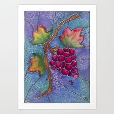 """Tuscan grapes"" Art Print by Precision Studio - $20.00"
