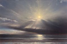 "Brian Martin, ""8:16 AM, Narragansett""  - 10x15, oil on panel--at Principle Gallery"