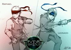 TMNT as humans :) Leo and Raph