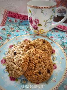 Pullantuoksuinen koti: Taivaalliset Tahini-kookoskeksit Tahini, Stevia, Cookies, Desserts, Food, Crack Crackers, Tailgate Desserts, Deserts, Biscuits