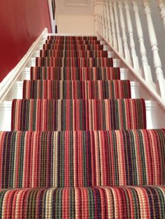 Wonderful Photographs Carpet Stairs stripy Ideas Among the fastest approaches to. Wonderful Photographs Carpet Stairs stripy Ideas Among the fastest approaches to revamp your tired Striped Carpet Stairs, Stairway Carpet, Striped Carpets, Hallway Carpet, Hallway Flooring, Wooden Flooring, Tile Stairs, House Stairs, Hall And Stair Runners