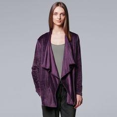 Women's Simply Vera Vera Wang Midnight Moon Cozy Wrap, Size: Medium, Purple Oth
