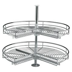 3/4 Chrome Carousel for L Shape Base Units -  Features 2 baskets speak to us about our 40% discount!!