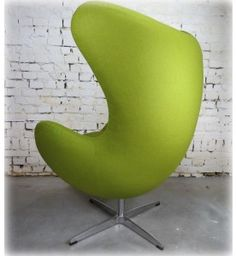 Egg Chair Groen Kasjmier