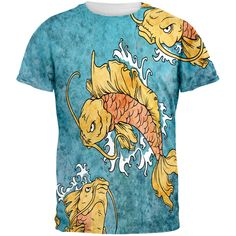 Japanese Koi Fish Tattoo Style All Over Adult T-Shirt