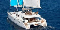 The new Lagoon 560 catamaran is modern, spacious and is ready to take you on a luxurious cruise of Santorini in unique style and comfort