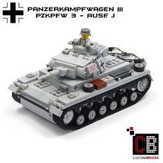 LEGO Custom WW2 WWII Panzer Tank PzKpfw 3 J CB1