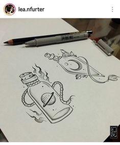 Pencil Art Drawings, Art Drawings Sketches, Cute Drawings, Tattoo Drawings, Body Art Tattoos, Bottle Drawing, Tattoo Portfolio, Dibujos Cute, Arte Horror