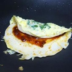 Jian Bing (Chinese Crepes) Recipe - I wonder if this will taste as good as the ones I had in China. Crepe Recipes, Brunch Recipes, Appetizer Recipes, Breakfast Recipes, Vegan Breakfast, Drink Recipes, Appetizers, In China, Chinese Recipes