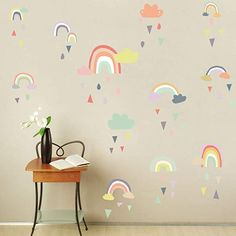 SKATEBOARD ON ROAD FANTASY SMASHED WALL STICKER ROOM DECORATION DECAL MURAL