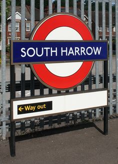 South Harrow London Underground Station in Harrow on the Hill, Greater London