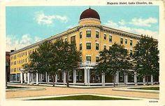 Lake Charles Louisiana LA 1916 Majestic Hotel Antique Vintage Postcard