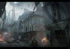 scifi city environment