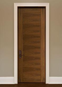 Classic Walnut Solid Wood Front Entry Door - Single - DBI-711