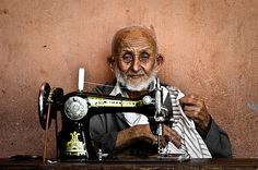 The old seamster, Marrakech, by Fabrice Drevon                           by  Fabrice Drevon