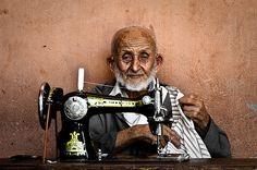 The old seamster, Marrakech, by Fabrice Drevon   Maroc Désert Expérience   http://www.marocdesertexperience.com #maroc #morocco #marruecos #marocco