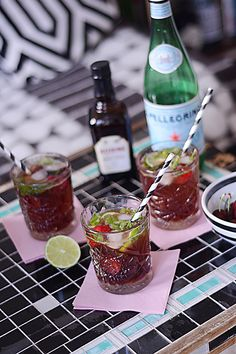 Cherry mojitos #drinks #mojitos #cherry
