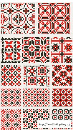 Dažādi raksti rūtiņu tehnikā - Rokdarbu grāmatas un dažādas shēmas Cross Stitch Borders, Cross Stitching, Cross Stitch Embroidery, Cross Stitch Patterns, Knitting Charts, Knitting Stitches, Knitting Patterns, Motif Fair Isle, Fair Isle Pattern