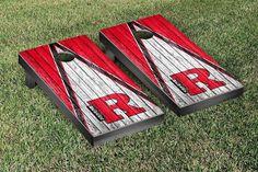 Rutgers Newark Scarlet Raiders Reclaimed Wood w/ Triangle Bag Toss Game Set