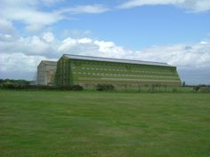 Cardington Airfield airship sheds, which housed barrage balloons in WWII. near Shortstown, Bedfordshire, Great Britain